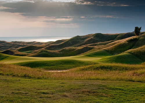 Arcadia Bluffs at Sunset