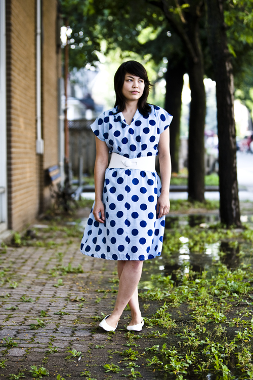 Blue Polka Dot Vintage, Toronto Street Fashion @ Leslieville, Queen St. East, Toronto, street style, photo by Krist Papas, whatsyourpersona