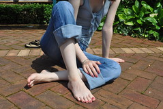 Barefoot (Artistic Feet) Tags: cute feet pose asian photography foot toes pretty arch legs artistic small nails barefoot heels shape soles curvs