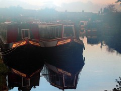 Lymm Canalside at Dawn (Hotpix [LRPS] Hanx for 1.5M Views) Tags: uk england water boats dawn canal fishing village cheshire side smith tony gb bridgewater bridgewatercanal canalside lymm hotpix tonysmith a56 lymmvillage tdktony hotpixuk