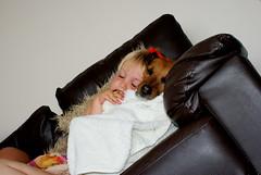 My daughter and her dog sleeping (Andy Goodby) Tags: sleeping dog girl chair sleep sony 300 asleep dslr a300