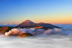 Between sky and earth (diankarl (www.diankarlina.com)) Tags: travel mist mountain holiday nature misty fog clouds sunrise indonesia landscape dawn volcano java southeastasia smoke foggy adventure caldera malang surabaya tengger mountbromo eastjava stratovolcanoes gunungbromo kawah pananjakan diankarl diankarlina wwwdiankarlinacom