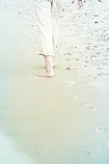 disolving....barefoot in the sand