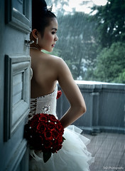 bride (TA.D) Tags: wedding red portrait white girl beautiful face leaves rain rose museum bride nikon dress vietnam tad hcm saigon hochiminhcity abigfave chandung impressedbeauty d700 infinestyle platinumheartaward homersiliad updatecollection homersbeautyofwoman