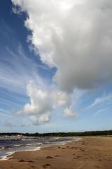Suecia-Sverige / Dinamarca-Danmark (Oskarsson) Tags: blue sea sky beach azul clouds canon mar sweden playa cielo nubes sverige halmstad suecia