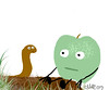 granny smith and worm