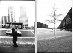 .  . (flevia) Tags: winter bw snow cold berlin analog blackwhite bn nophotoshop urbanjungle biancoenero dyptich nikonfa berlino foma damncold hcsp analogico fomapan nikkor35mmf2 fomapan200 scannednegatives epsonv700 dittico autaut epsonperfectionv700photo flevia fomapancreative200 imanalog thedyptichproject berlindyptich
