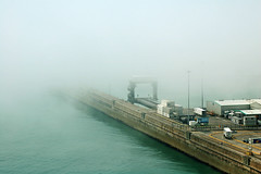 Dover Harbour Fog (only lines) Tags: uk fog coast kent harbour dover gettyimages welcomeuk