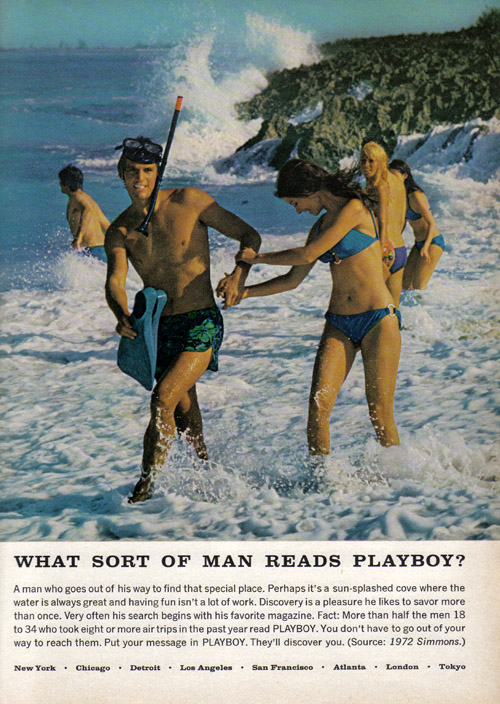 Vintage Ad #912: What Sort of Man Reads Playboy While Snorkeling?