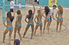 Bikini clad dancers. Personal Plus (Lazenby43) Tags: beach volleyball blackpool beachwear europeanchampionshipbikini