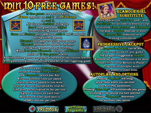 free Fame and Fortune gamble bonus game