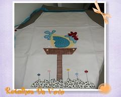 Galinha no poleiro (Retalhos Da Vov & Dolls ) Tags: patchwork avental galinhas