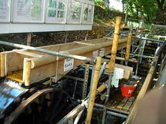 堀川の水車発電システム