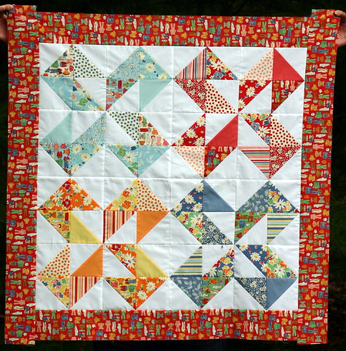 Dutch Pinwheel Quilt top