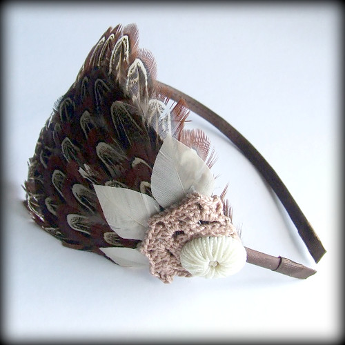 feather headband tutorial:
