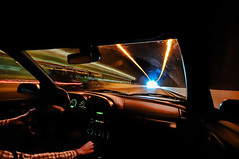 Driving in to the light (mr.hemmo) Tags: light nikon long exposure sigma wideangle tunnel incar streams 1020mm vuosaari d90 reflectyourworld