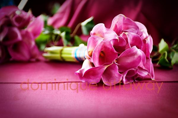 purple calla  lilies bridal bouqeut