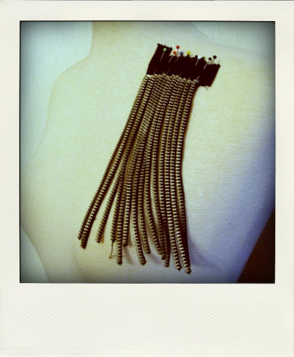 DIY zipper fringes p-pola