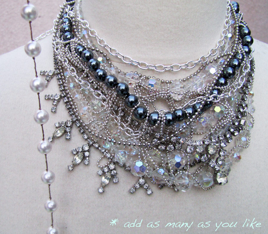 DIY-Tom-Binns-rhinestone-chains-pearl-chunky-choker-collar-necklace-9