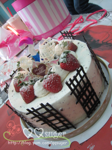 你拍攝的 生日蛋糕。