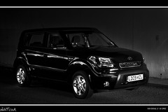Kia Soul 2 1.6 CRD Multi Comp Shot (NWVT.co.uk) Tags: new light brown black reflection monochrome night canon painting de mono saturated long exposure photographer d 28mm young surreal funky automotive x tokina professional 400 soul pro pearl 16 28 mm hip kia groovy 2009 freelance crd at nwvtcouk nwvt