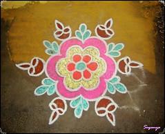 Rangoli (*** Suganya ***) Tags: diwali 2009 kolam rangoli