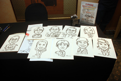 Caricature live sketching for Nera Telecommunications Ltd - 10
