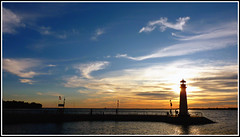 Rockwall Lighthouse (crowt59) Tags: blue sunset sky lighthouse lake lumix harbor texas ultrawide rockwall 16x9 getrdun rayhubbard crowt59 zs3 rockwalllighthouse