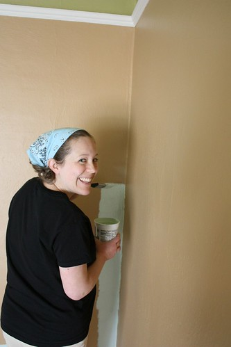 Caitlin Painting the Nursery