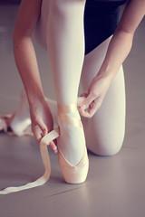 pink ribbons (yuki(ko)) Tags: pink girl up shoes lace tie dancer ribbon