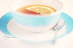 A very merry Unbirthday to you (dhmig) Tags: blue cup closeup backlight relax 50mm lemon nikon break dof tea highkey teacup liquid pasteltones softcolors nikond7000 dhmig dhmigphotography