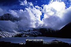 Gokyo (majortom16) Tags: nepal lake snow mountains film trek 35mm nikon fuji velvia 24mm himalaya 50 ais gokyo rvp f4s
