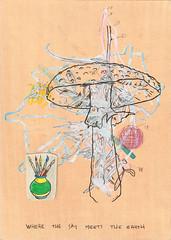 where the sky meets the earth - 29 x 21 cm - 2011 (Ben Kruisdijk) Tags: art modern pencil watercolor paper ben drawing contemporary watercolour papier zeichnung tekening potlood kruisdijk