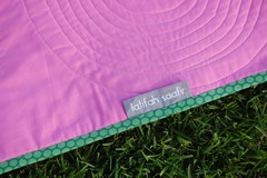 Perfect Puddles - Label Detail (The Quilt Engineer (Latifah Saafir)) Tags: babyquilt samplerquilt modernquilt circlequilt
