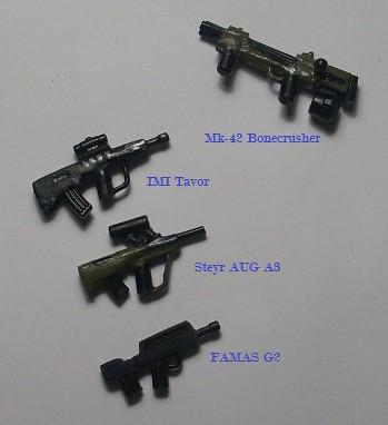 Custom minifig Bullpup Weapons