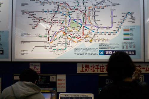 Metro Map in Tokyo