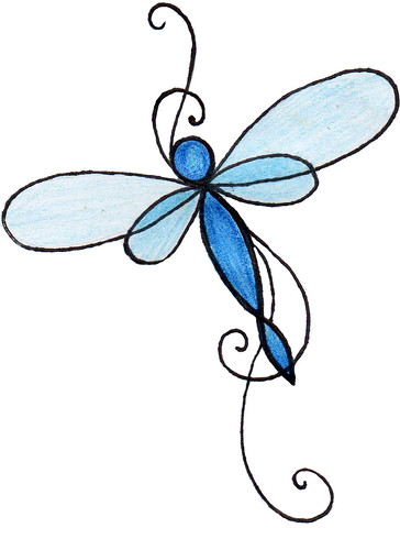 Simple Dragonfly Tattoo - Interior Home Design
