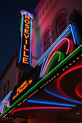 20090120 Roseville Theatre (Tom Spaulding) Tags: california ca old sign night vintage marquee theater neon signage us40 roseville route40 highway40 magiccircletheatre rosevilleca rosevilletheatre