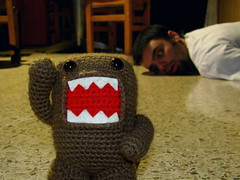 Death by Domokun (Weich Taube *Give me a Cookie!*) Tags: crochet craft domokun amigurumi domokuneatyou poorpedrin