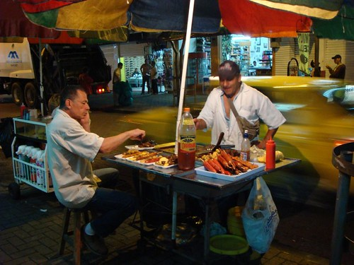 Night time food vendor, Pereira - Colombia.