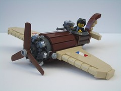 Sopwith Hurricane (2 Much Caffeine) Tags: plane fighter lego aircraft steampunk moc flyingmachine