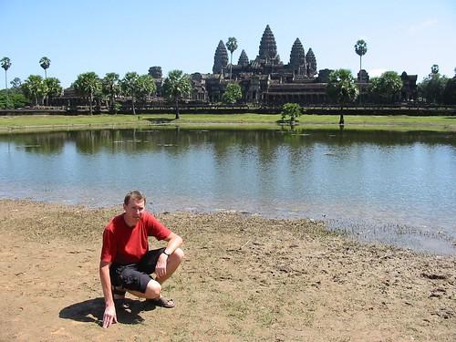 Voor het monumentale Angkor Wat