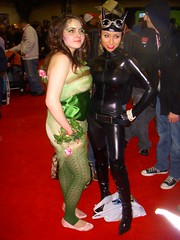 Poison Ivy & Catwoman (excalipoor) Tags: new york nyc newyorkcity costumes red woman ny newyork game green nerd leaves cat kyle booth comics hair fan dc leaf video comic geek boots cosplay head manhattan jacob centre ivy books games exhibition redhead geeks videogames nerds 09 convention comicbook characters fans february feb poison pamela marvel redhair comiccon 2009 catwoman con lillian poisonivy spandex comicconvention isley selina javits googles javitscenter jacobjavits nycc nycomiccon newyorkcomiccon marvelbooth selinakyle 2k9 comicfan pamelalillianisley newyorkcomiccon2009 nycc09
