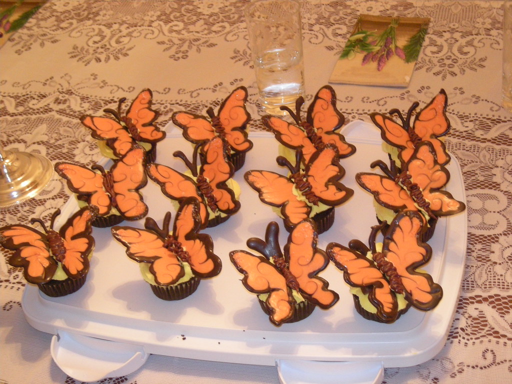 Butterfly cupcakes by Laura Daniel