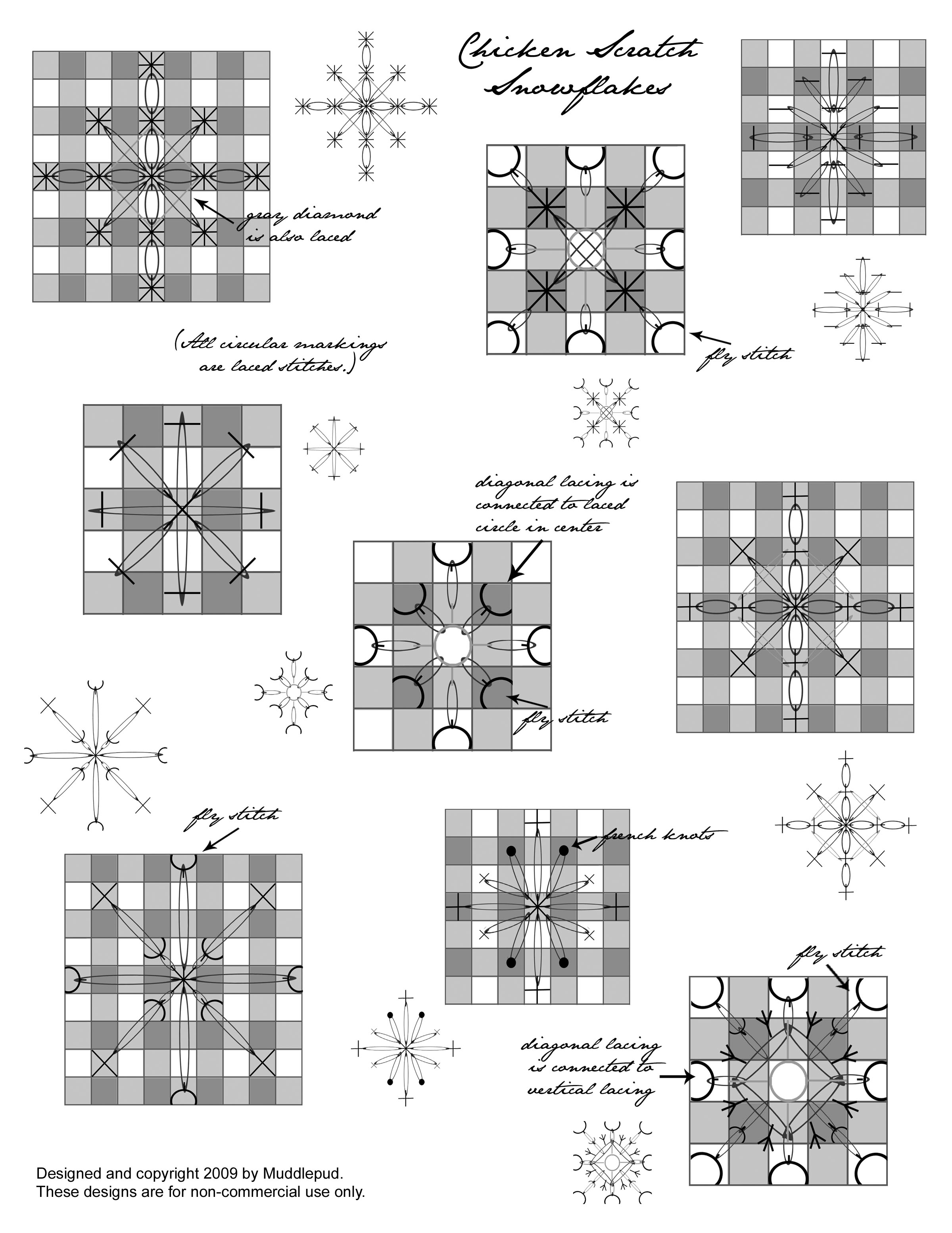 chicken scratch snowflakes (pdf)