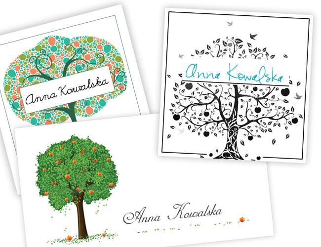 Ewelina & Tadeusz – projekty wizytówek