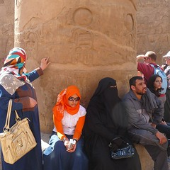 Egyptians getting in touch with their 5000 years old history (Ginas Pics) Tags: people woman man history awesome egypt hijab nile niqab pharao ethnography hadith travelphotography ginaspics muslimwomen goldengarden redruby muslima  lumixaward egyptpics allaboutegypt schahada  hadithen