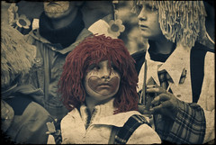 Distracted (manganite) Tags: carnival boy red portrait people color texture face sepia digital cutout germany hair geotagged costume kid interestingness nikon europe bonn child mask tl framed candid clown makeup overlay explore wig procession d200 nikkor dslr toned umzug textured karneval selective karnevalszug rosenmontag northrhinewestphalia i500 interestingness420 18200mmf3556 utatafeature manganite nikonstunninggallery date:month=february date:day=23 date:year=2009 rosenmotagszug geo:lat=50733326 geo:lon=7094112 format:ratio=32
