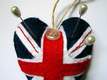Union Jack Pin Cushion / Stuffie