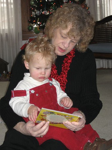 Mom reads to Andrew